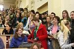Tisková konference studentů právnické fakulty v budove ZČU v Husově ulici