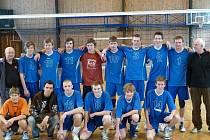 Družstvo kadetů USK Slavie Plzeň, které vybojovalo postup do extraligy