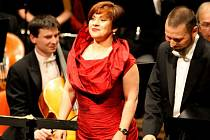 Mezzosopranistka Dagmar Pecková při vystoupení v loňském 50. ročníku festivalu Smetanova Litomyšl