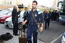 Příjezd fotbalistů Fenerbahce Istanbul do Plzně