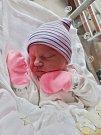 Eliška Ciprová se narodila 3. prosince v 9:03 mamince Ivaně a tatínkovi Michalovi z Přeštic. Po příchodu na svět v plzeňské FN vážila sestřička dvouleté Marušky 2890 gramů.