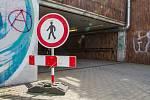 Podchod u nádraží v Plzni
