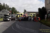 Nehoda dvou aut v obci Zámělíč