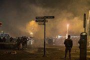 Oslavy příchodu nového roku na náměstí Republiky v Plzni.