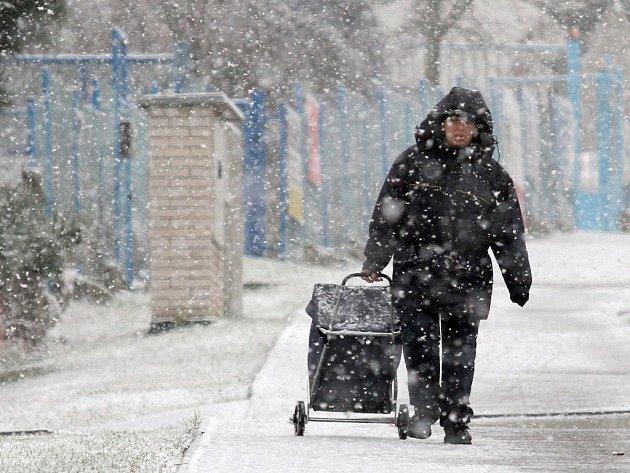 Plzeň se v úterý dočkala sněhu