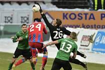Lednový zápas Příbram - Viktoria Plzeň.