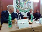 Milan Chovanec se zúčastnil setkání s dobrovolnými hasiči.
