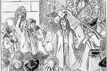 Ilustrace Mikoláše Alše k románu Psohlavci od Aloise Jiráska