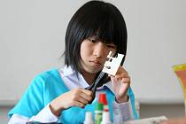 Japonské děti v uměleckoprůmyslové škole Zámeček v Plzni
