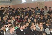 Prezident Miloš Zeman se v Domažlicích setkal s žáky středních škol.