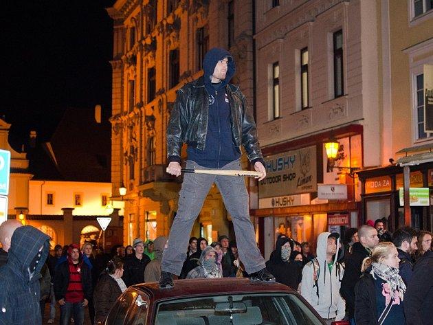 V centru Plzně se natáčel film Hany