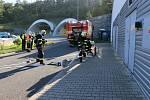 Cvičení složek IZS u tunelu Valík.