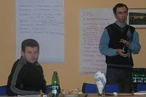 Zleva Peter Rada, předseda mikroregionu Touškovsko, a Martin Januš, koordinátor projektu