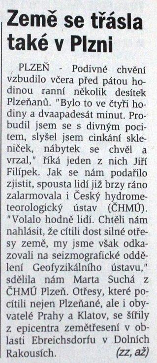 Plzeňský deník, 12. 7. 2000