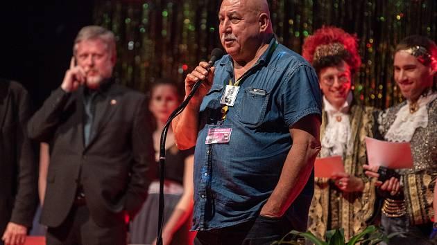 Z vyhlášení cen filmového festivalu Finále. Delegace snímku Čára