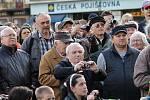 Prezident Miloš Zeman při debatě s občany na náměstí Republiky