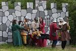 Na Šídlováku byli rytíři, čarodějnice, král a královnoa, Mínotaur a další pohádkové bytostmi