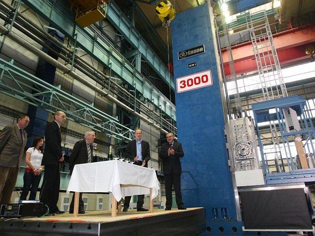 Ve Škodě Machine Tool předali 27. února zákazníkovi 3000. horizontku v historii firmy. Předání přihlíželi i zaměstnanci společnosti