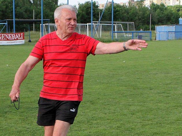 trenér družstva SKP Rapid Plzeň Jaromír Mysliveček oslaví 75. narozeniny
