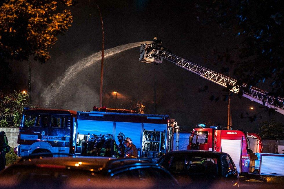 Plzeň, Belánka, požár