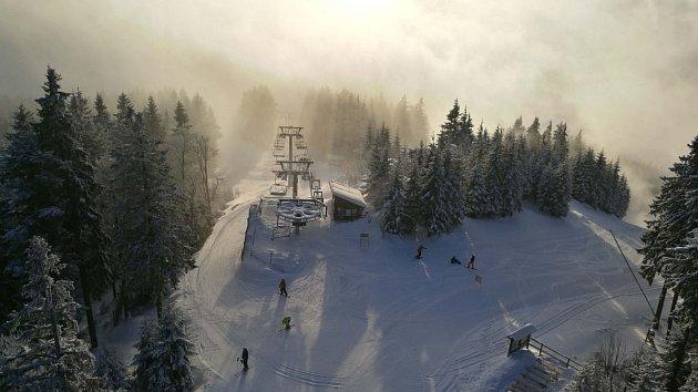 Aktuální sněhové podmínky na Špičáku