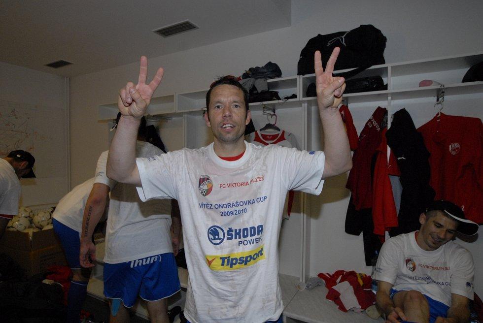 Pavel Horváth pár minut po pohárovém triumfu v kabině.