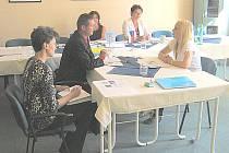 Státní maturitní zkouška na jedné z příbramských středních škol.
