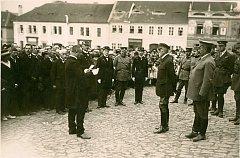 Prezident Masaryk v Sedlčanech v roce 1922.