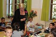 První školní den v Základní škole Jiráskovy sady.