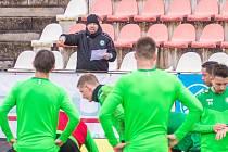 Fotbalisté Příbrami sehráli místo odloženého ligového utkání se Spartou Praha modelový zápas proti sobě.
