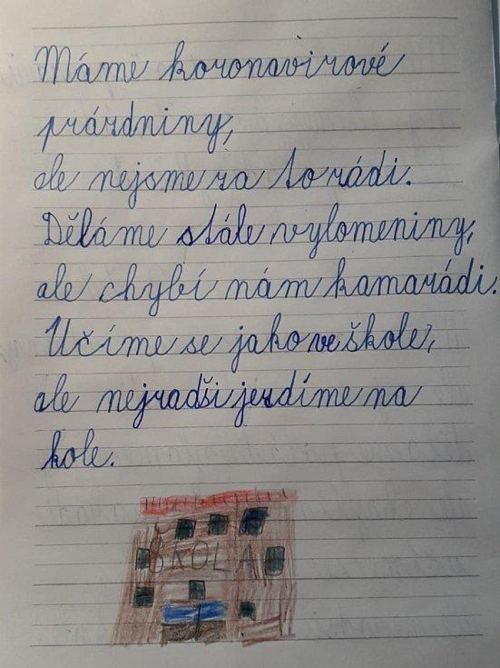 Báseň Adama Pavlíka ze třídy 2.A Základní školy Sedlec-Prčice.