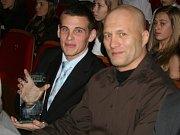 Daniel Navara (vlevo) se svým trenérem Ladislavem Erdélyim.