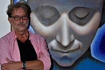Muzikant a malíř Martin Němec vystavuje v Dobříši průřez svojí tvorbou