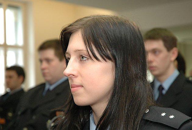 Slib nově přijatých policistů.