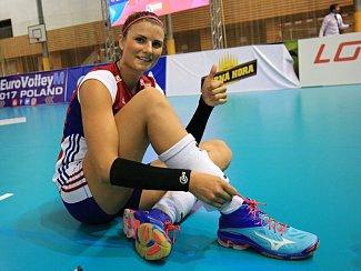 Česká volejbalová reprezentantka Andrea Kossányiová, rodačka z Příbrami