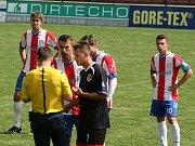 Z utkání 1. kola krajského přeboru: Sp. Příbram - ČLU Beroun (4:0).