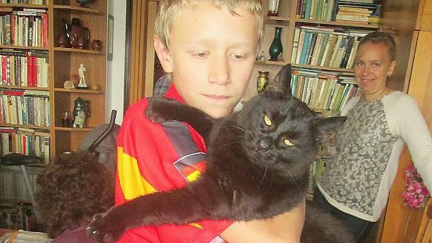 Žáci příbramské praktické školy na návštěvě u opuštěných koček, o které pečuje Spolek pro kočku.