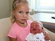 VIKTOR ŠOLÍN se narodil v sobotu 12. srpna o váze 3,80 kg a míře 51 cm rodičům Kristýně a Markovi z Lázu. Z brášky se raduje Izabelka.