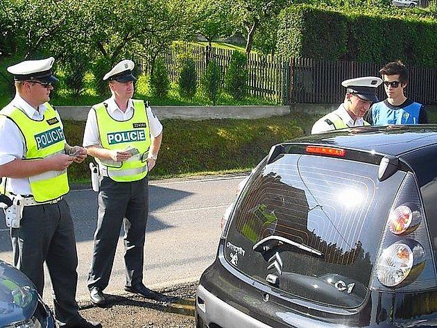 Dopravně-bezpečnostní akce v Bohutíně.