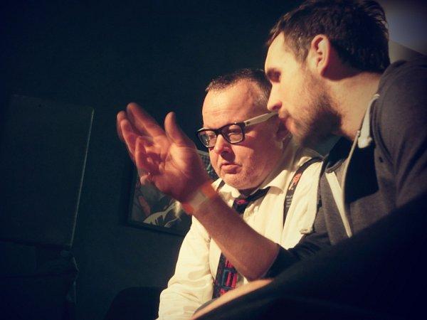 Natáčení dokumentu. Doktor PP a Jan Jindřich (vpravo).