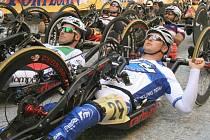 HONZA Tománek s číslem 29 na závodech prestižního evropského poháru EHC v italském Fossanu. V silničním závodě vybojoval 6. místo a v časovce jednotlivců 4. místo.