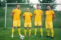 Hráči MK Sparta Luhy zleva: Jan David, Jan Matyáš, Jakub Šmejkal a Martin Hanáček.