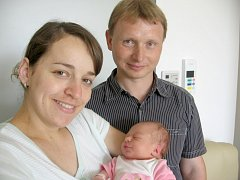 Od soboty 27. července mají maminka Vendula a tatínek Radek z Březnice radost ze svého prvního děťátka – dcerky Terezky Zemanové, která v ten den vážila 3,31 kg a měřila 50 cm.