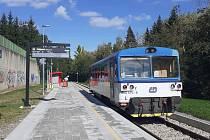Železniční zastávka Příbram-sidliště.