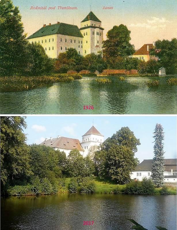 Rožmitál pod Třemšínem - Rybník Kuchyňka, nad ním původně stával hrad.