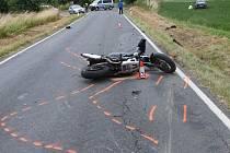 Tragická nehoda motocyklisty u Plané.