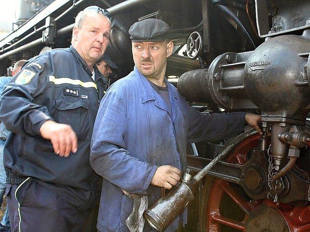 Den železnice na příbramském nádraží.