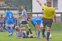 Fotbalisté Rožmitálu B porazili v předkole poháru Obořiště 2:1 a v neděli se utkají s Podlesím.