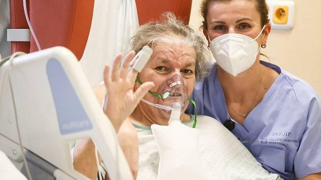 Covid oddělení příbramské nemocnice.