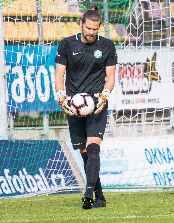 Brankář Příbrami Marek Boháč.